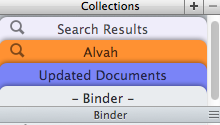 Saved Search Collection as Denoted by Magnifying Glass