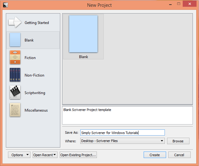 Folders simply scrivener new project page pronofoot35fo Images