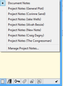 Project Notes Inspector