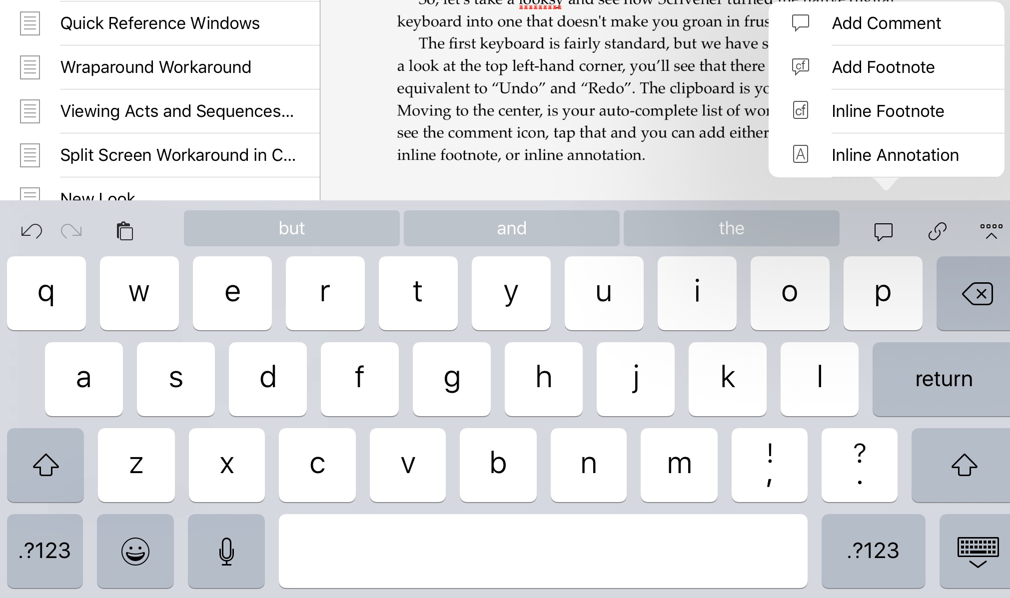 Typing In Scrivener Ios Simply Scrivener